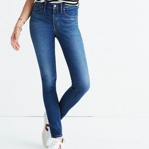 """Madewell 9"""" Mid-Rise Skinny Jeans Patty Wash 25"""